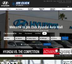 Jim Click Hyundai Auto Mall Website History