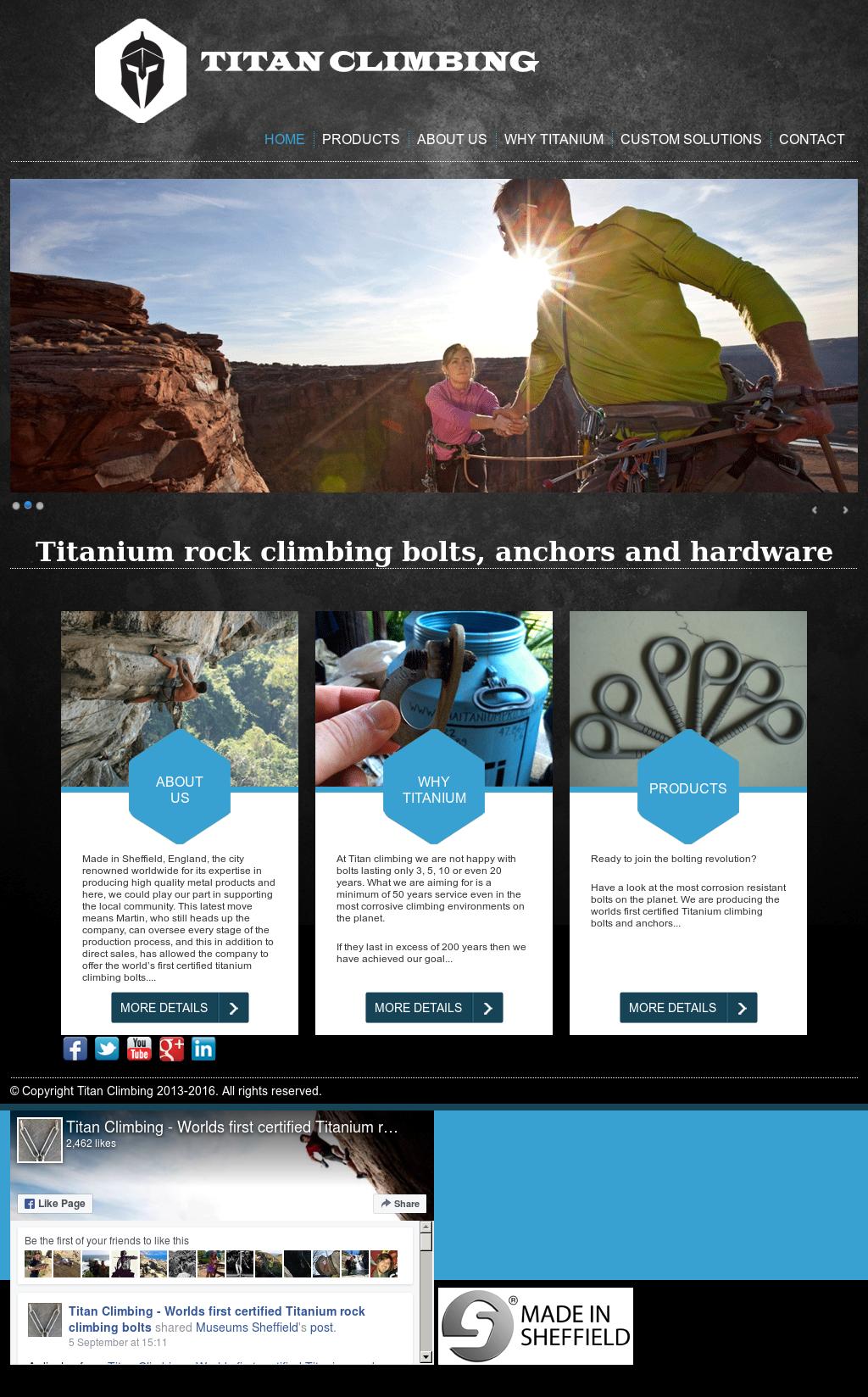 Titan Climbing - Worlds First Certified Titanium Rock