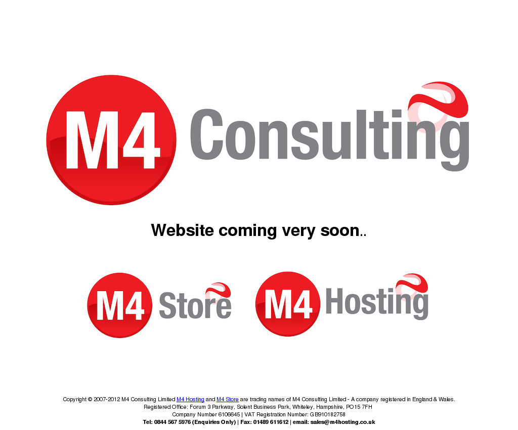 M4 Consulting Limited M4 Hosting And M4 Store Are Trading Names Of