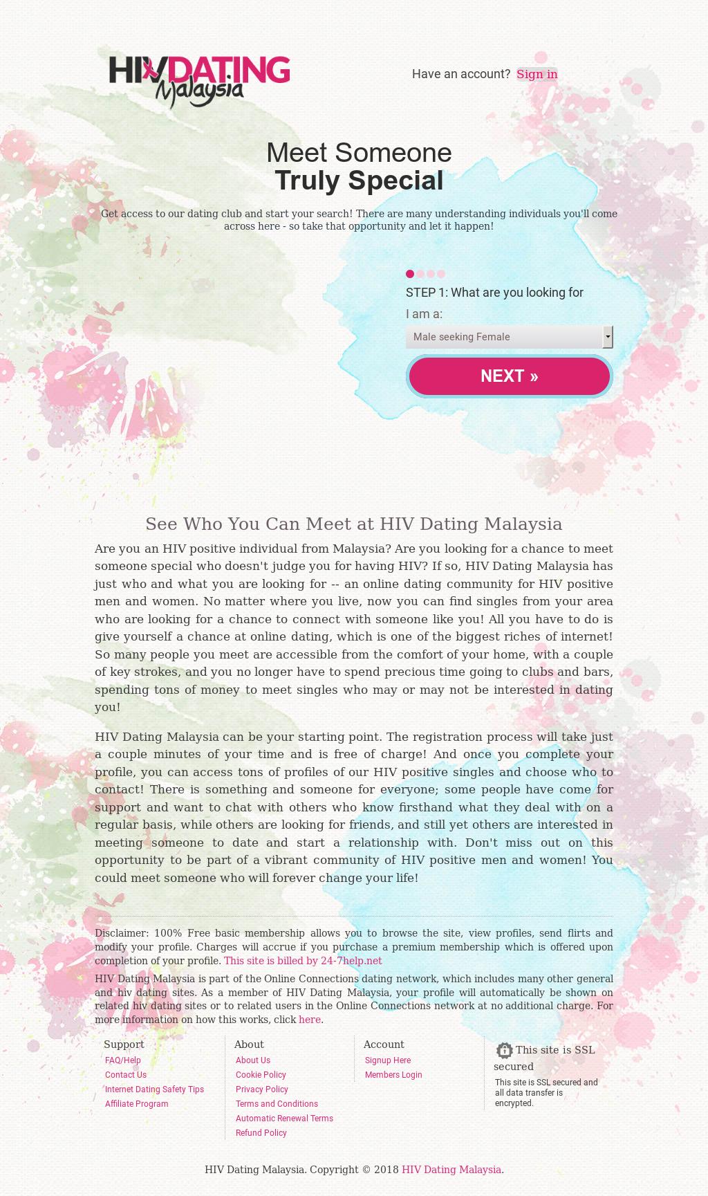 le VIH singles Dating Club