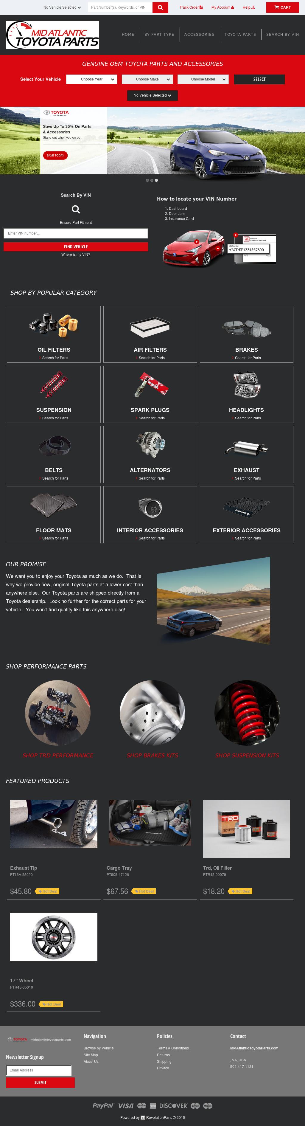 Beautiful Mid Atlantic Toyota Parts Website History