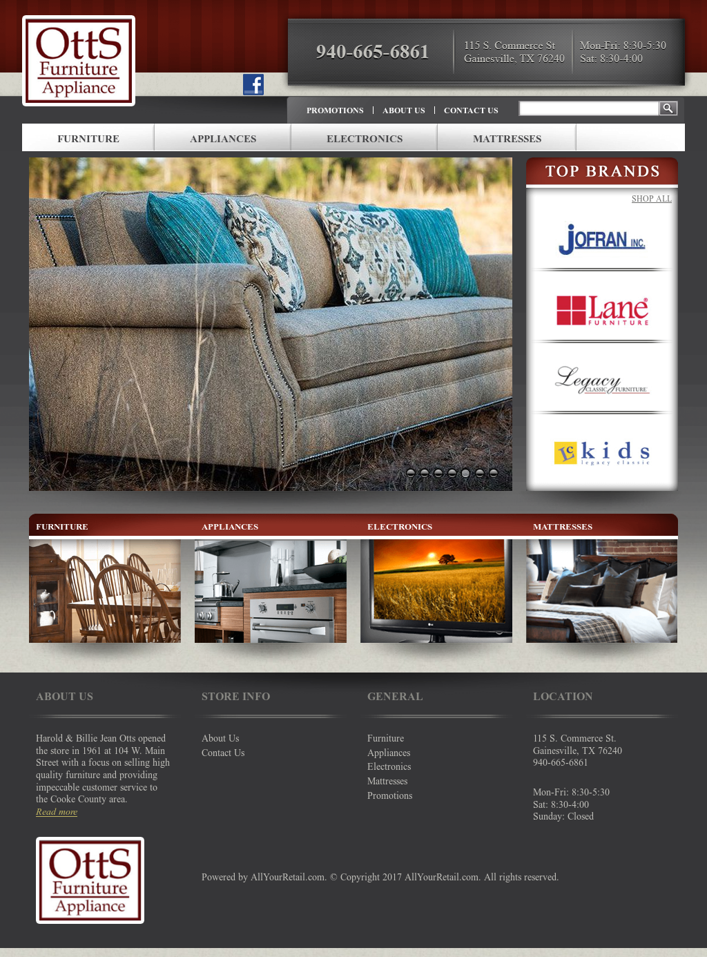 Bon Otts Furniture U0026 Appliance Website History