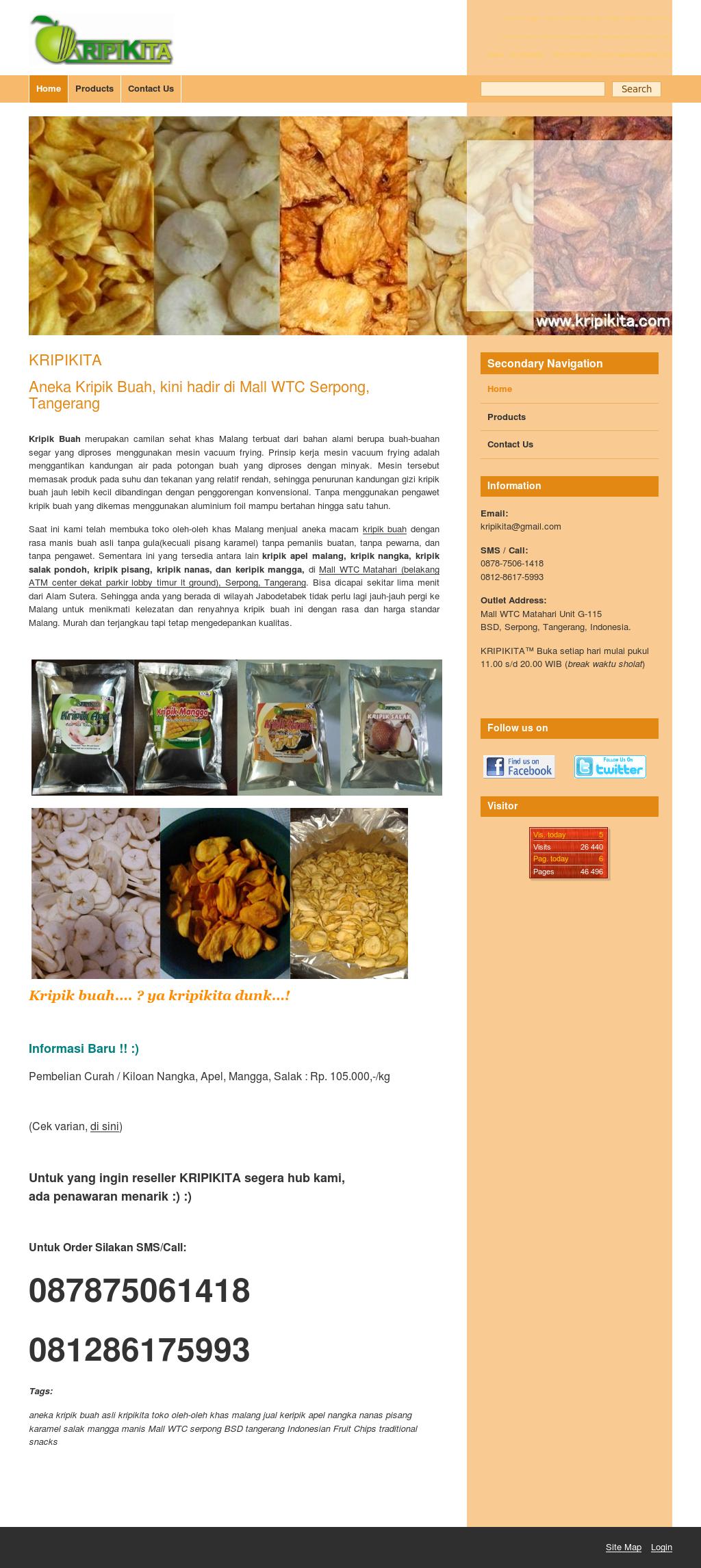 Kripik Buah Keripik Apel Nangka Salak Nanas Pisang Mangga See Screenshot Jul 2017 More Website History Owler Has Collected 12 Screenshots Of