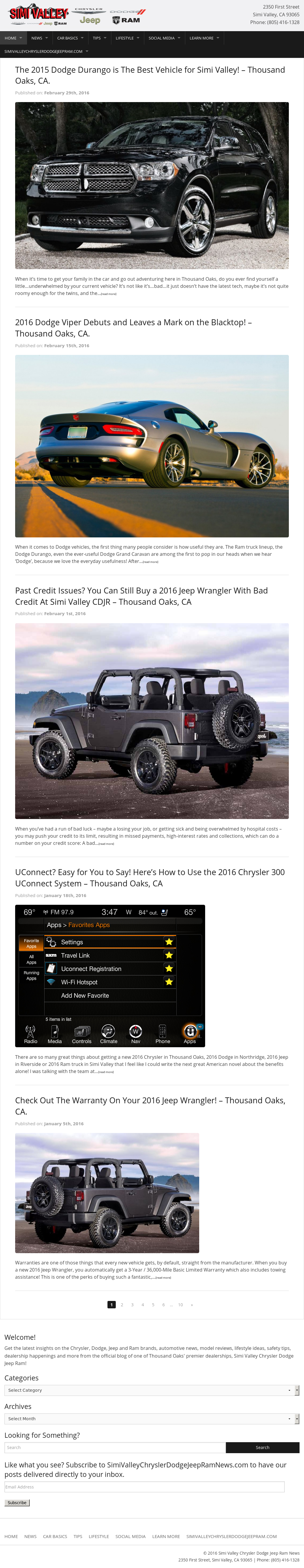 Simi Valley Jeep >> Simi Valley Chrysler Dodge Jeep Ram News Competitors