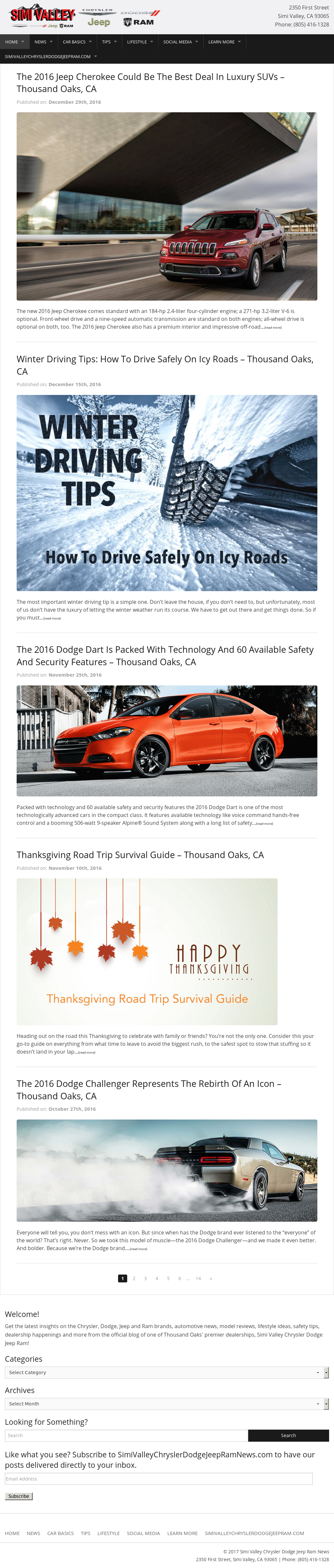 Simi Valley Dodge >> Simi Valley Chrysler Dodge Jeep Ram News Competitors