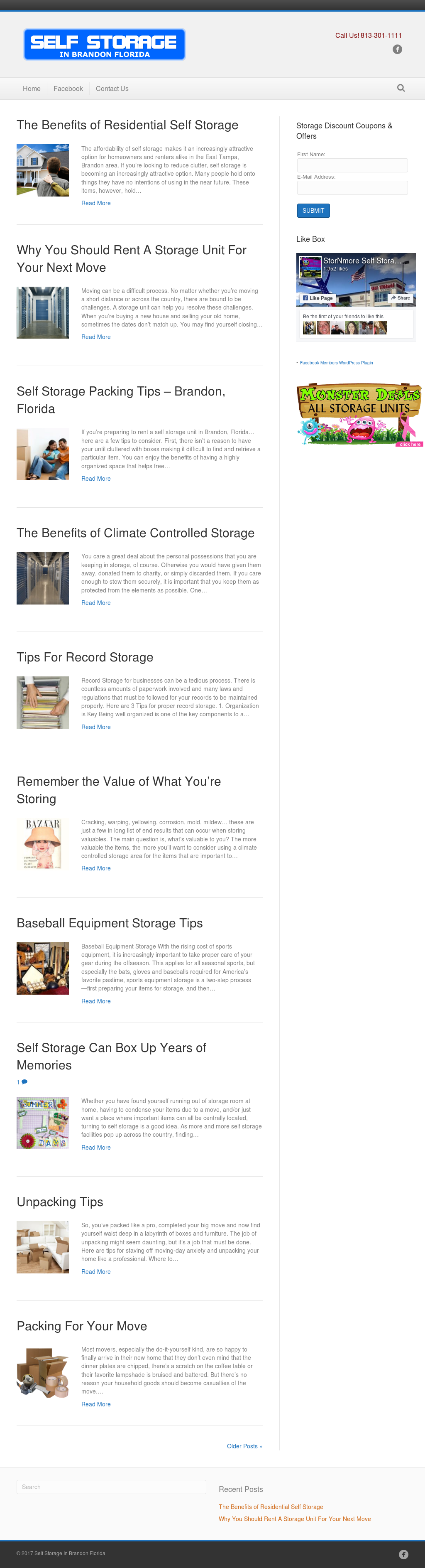 Stornmore Self Storage   Brandon Fl Website History