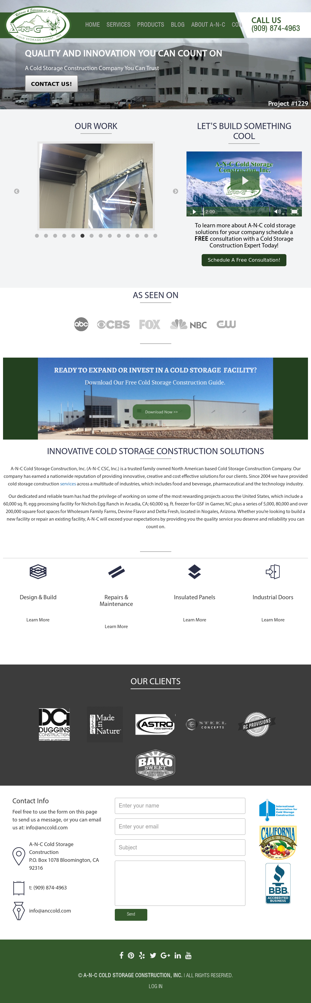 A-n-c Cold Storage Construction Competitors, Revenue and