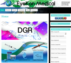 Eyekon Medical Website History