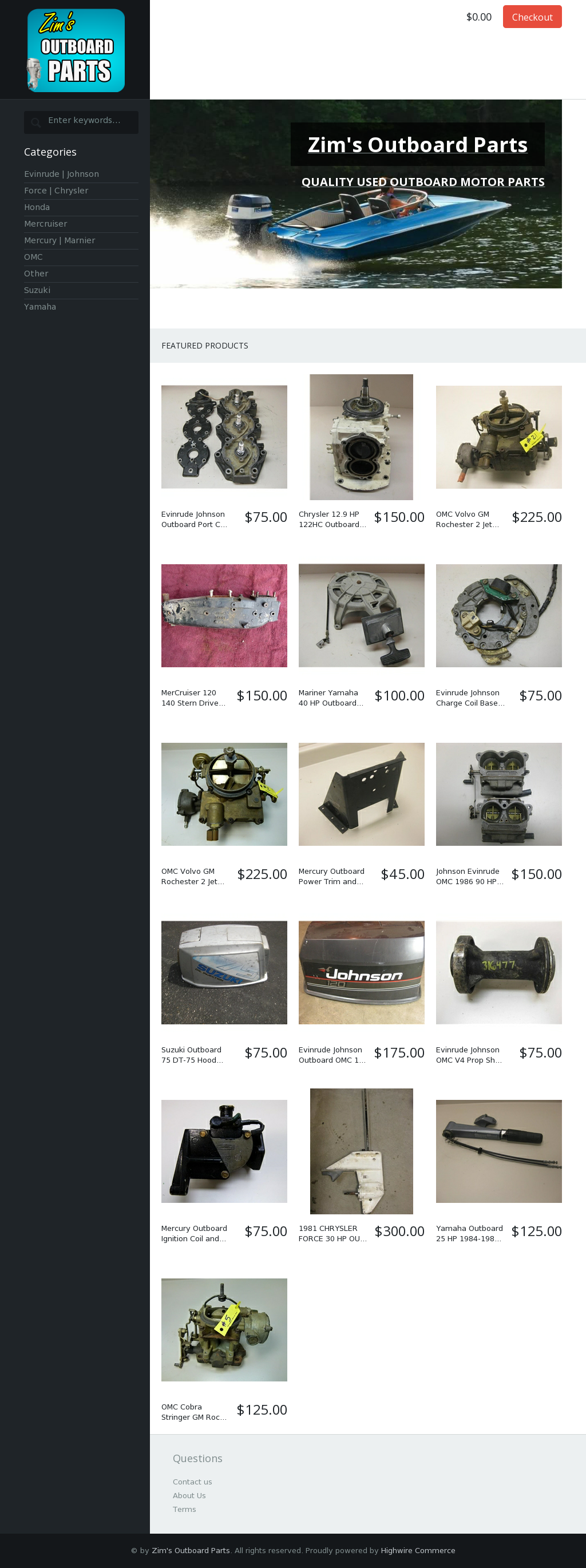 Zim's Outboard Parts Competitors, Revenue and Employees