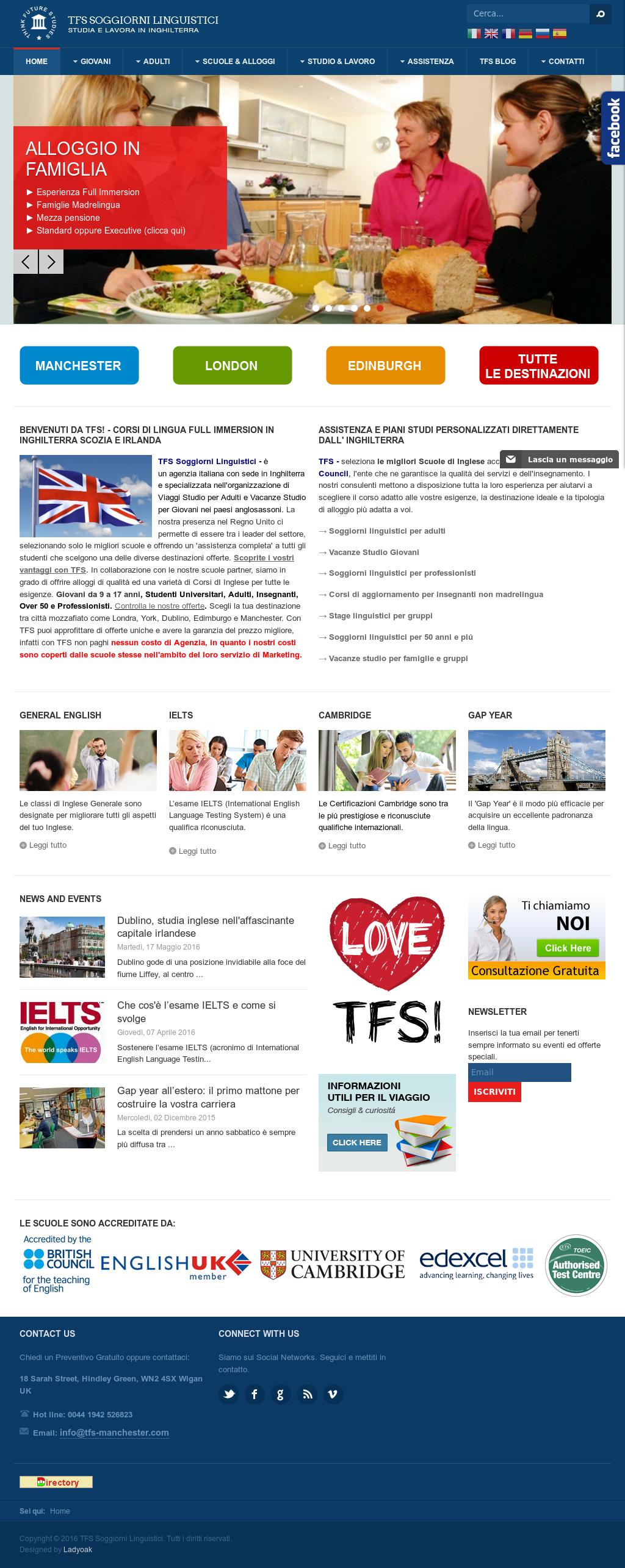Tfs Soggiorni Linguistici Competitors, Revenue and Employees - Owler ...
