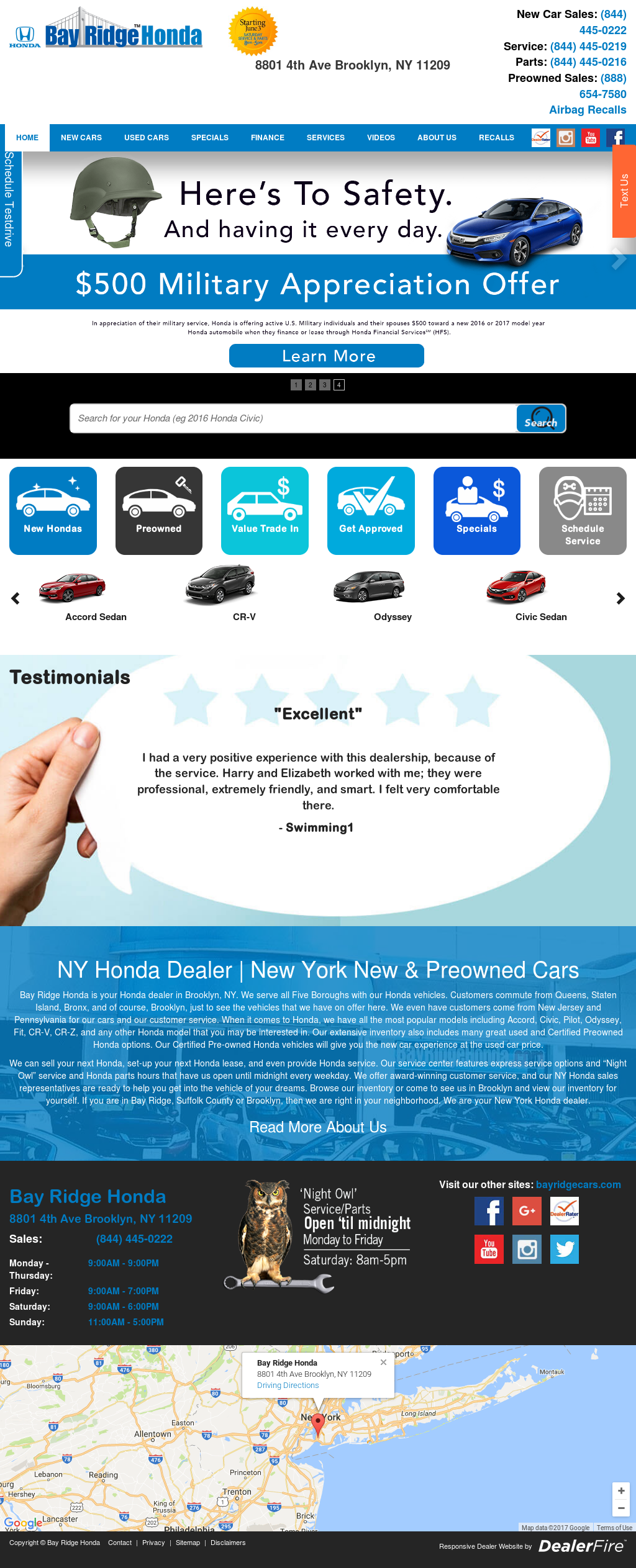 Bay Ridge Honda Website History
