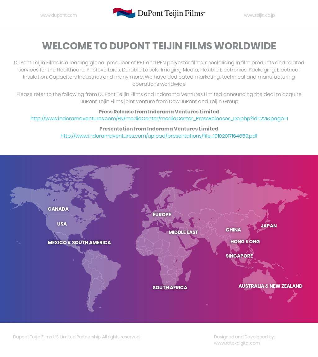Dupont Teijin Films Competitors, Revenue and Employees