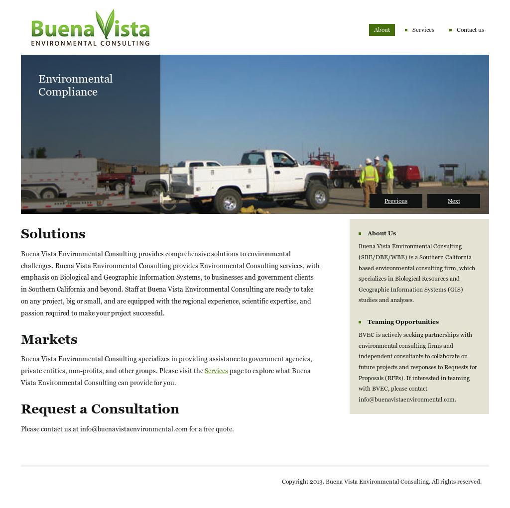 Buena Vista Environmental Consulting Competitors, Revenue