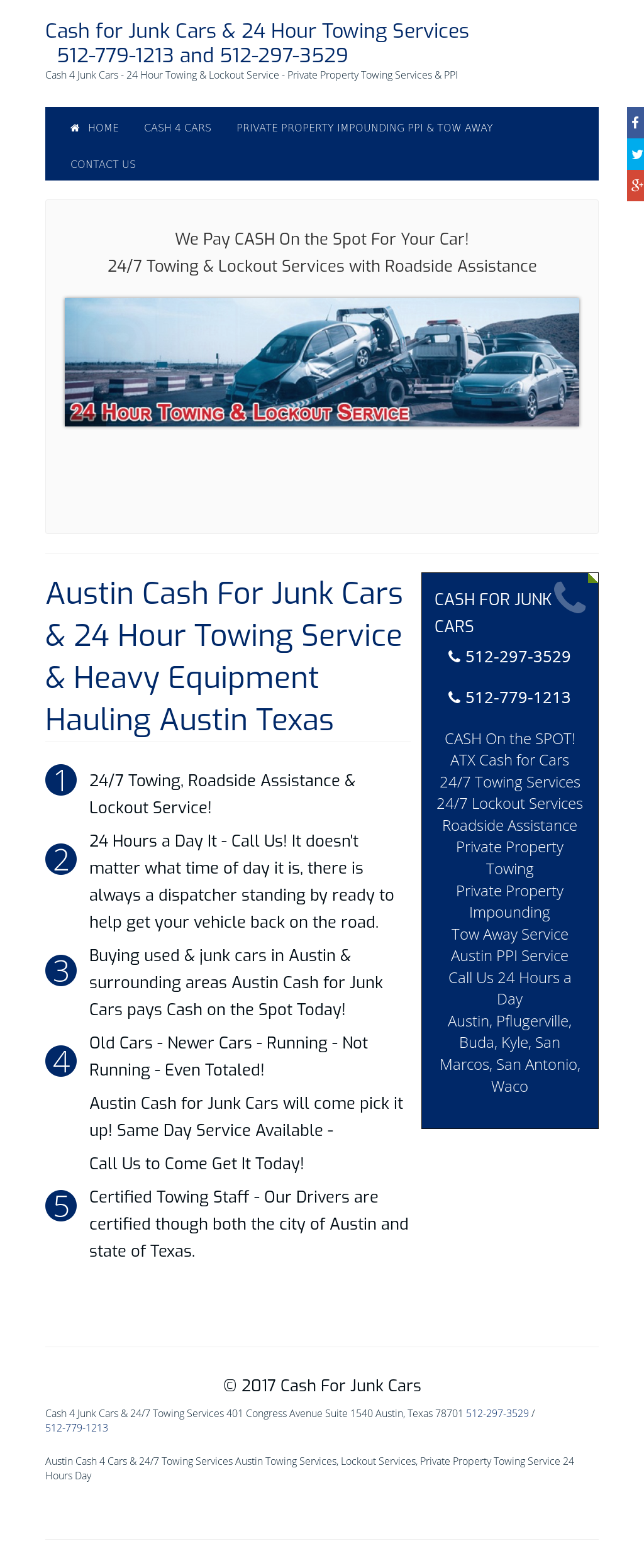 24 Hour Junk Cars >> Austin Cash For Cars 24 Hour Towing Service Competitors