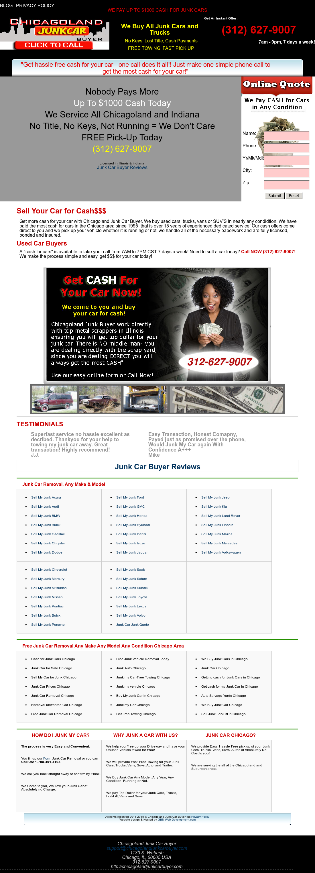 Chicagoland Junk Car Buyer Competitors, Revenue and Employees ...