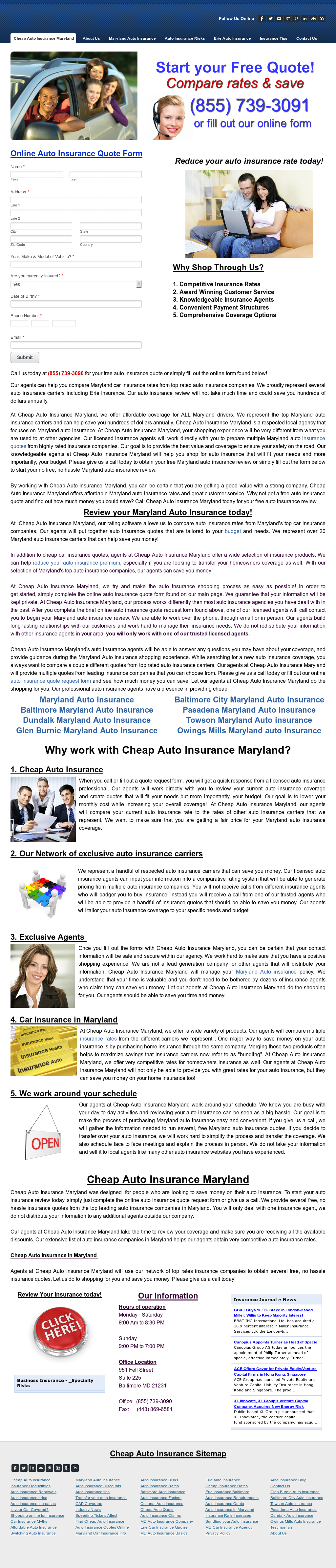 Cheap Auto Insurance Maryland petitors Revenue and Employees