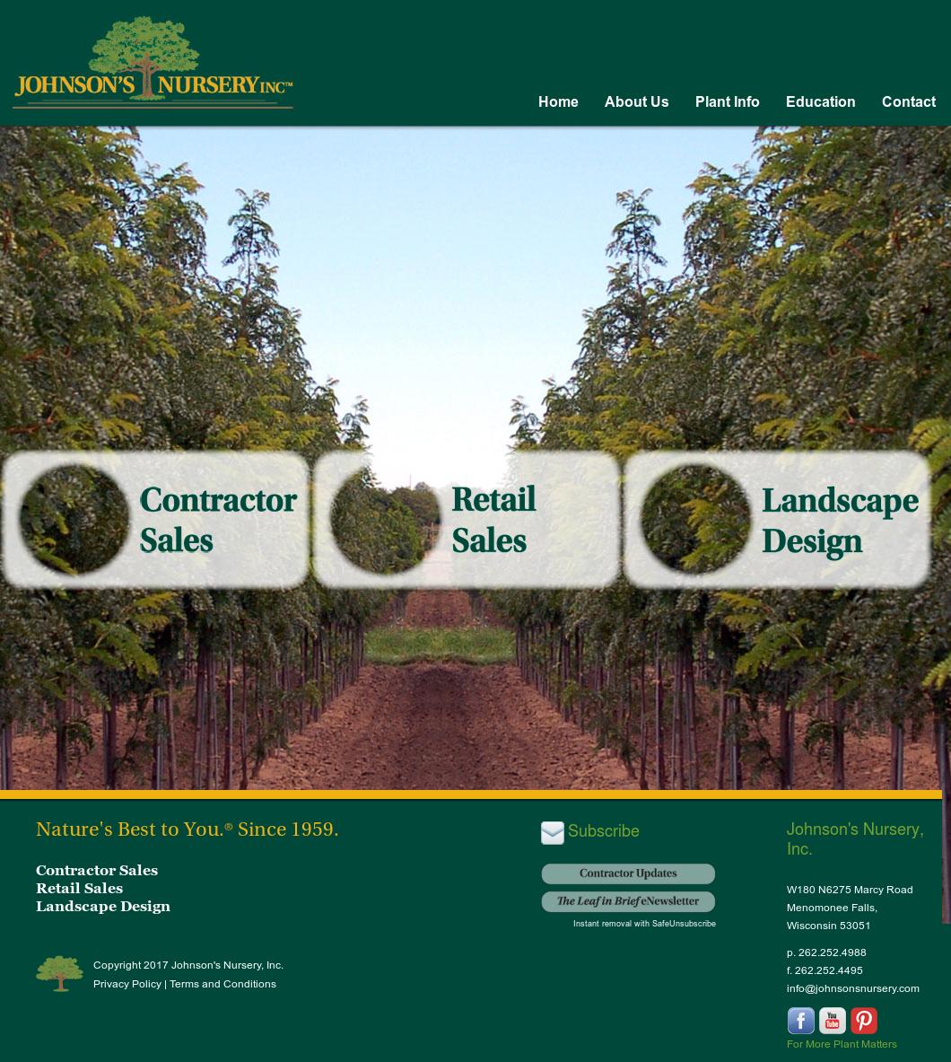 Johnson S Nursery Website History