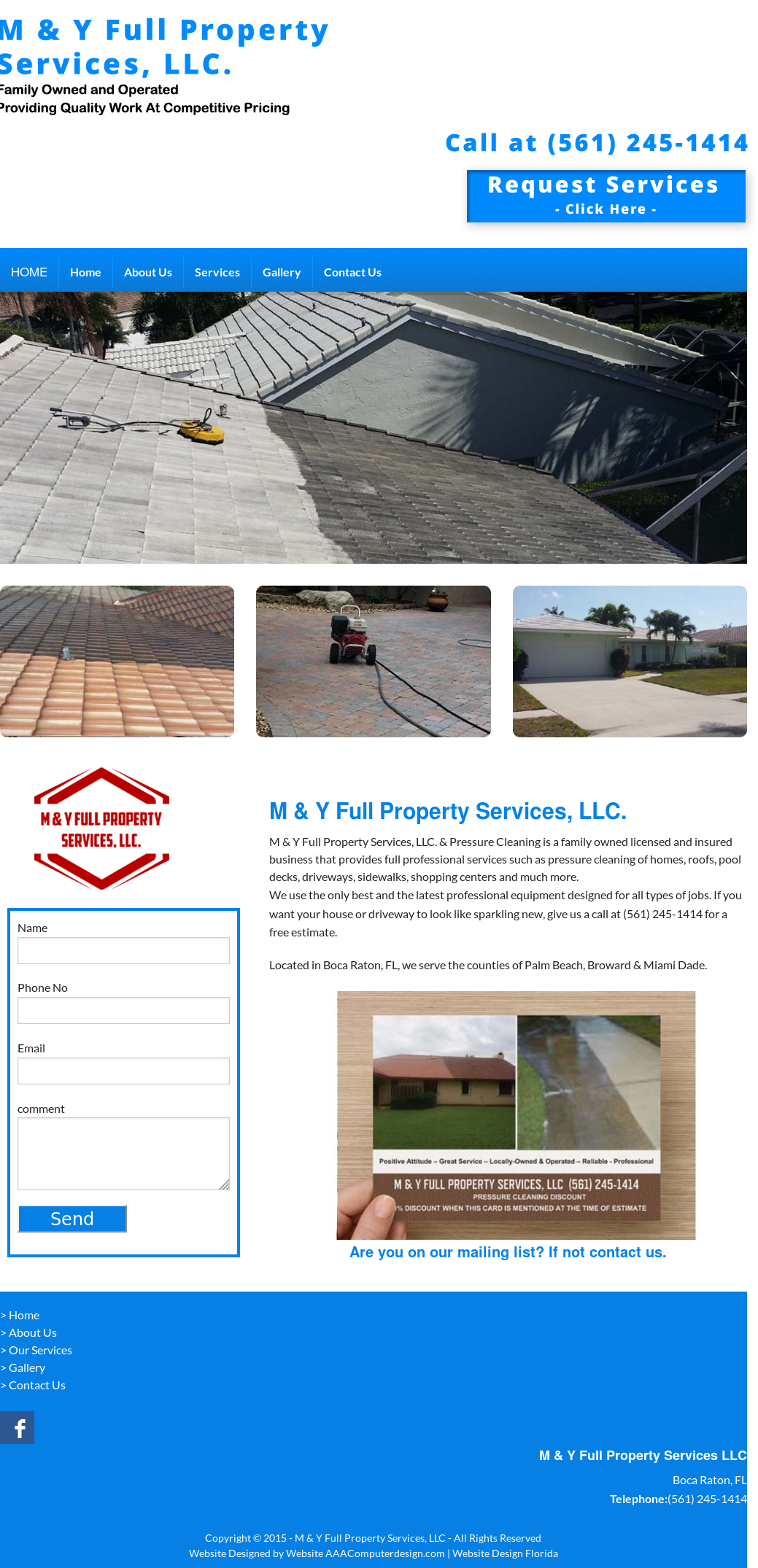 M & Y Full Property Services, Llc  & Pressure Cleaning Competitors