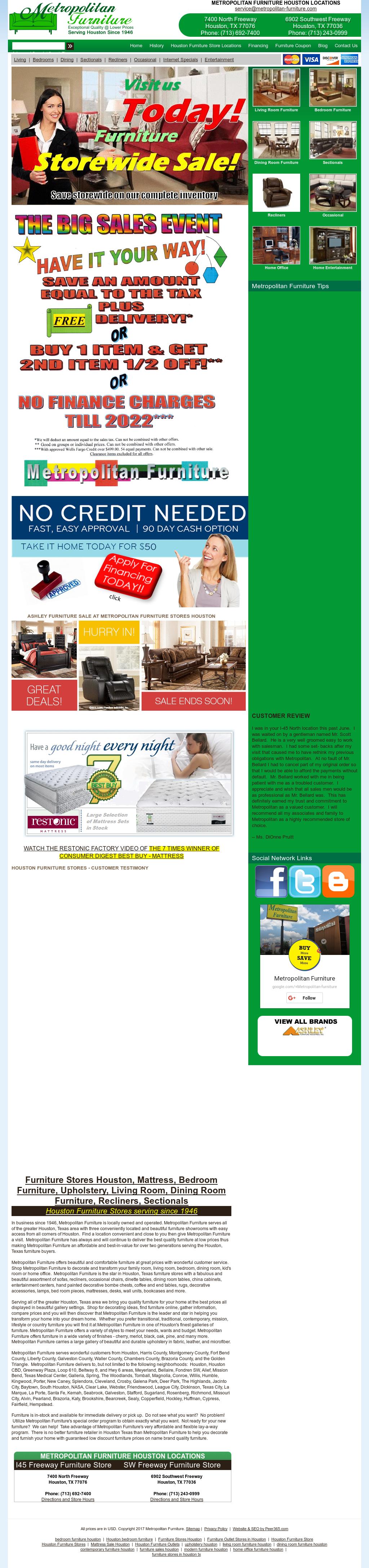 Attirant Metropolitan Furniture Website History