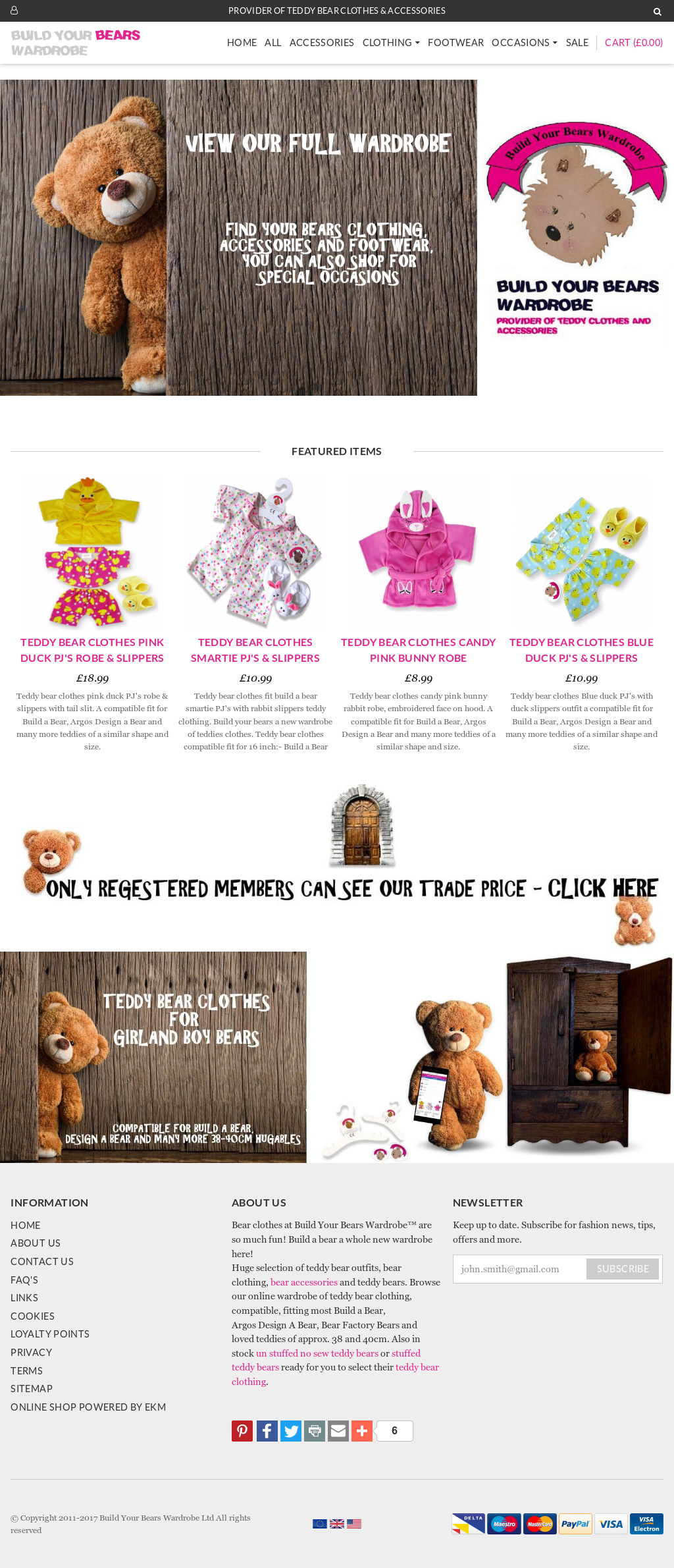 Build Your Bears Wardrobe Competitors, Revenue and Employees