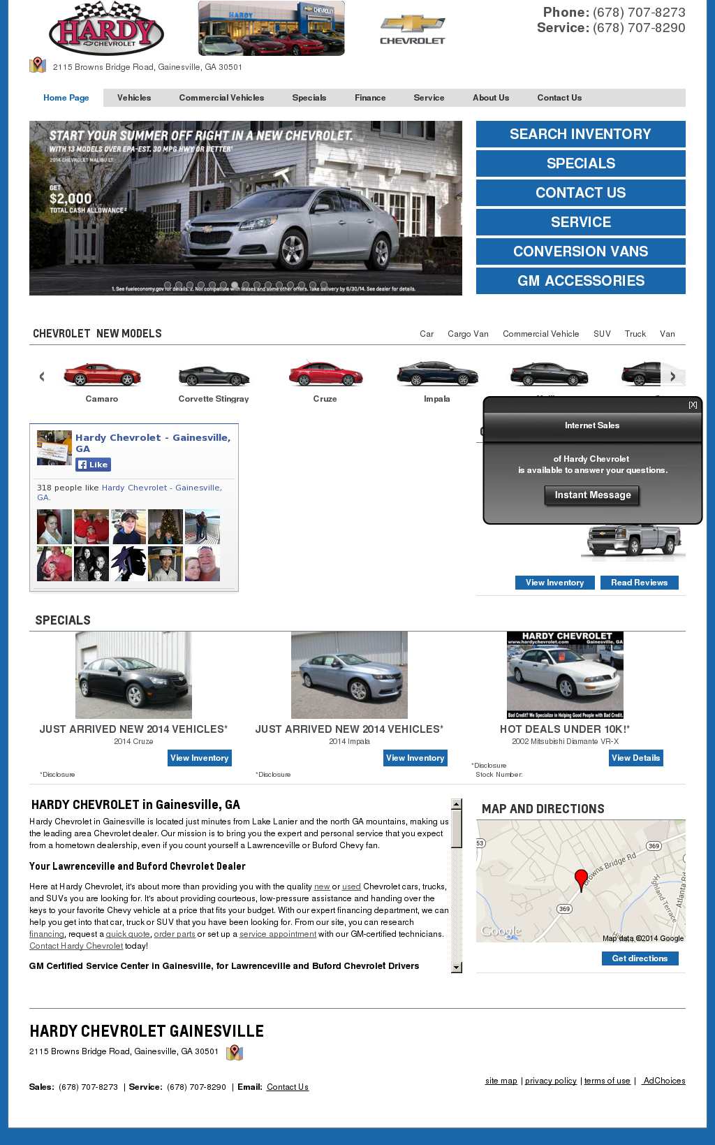 Hardy Chevrolet Gainesville Ga >> Hardy Chevrolet Competitors Revenue And Employees Owler