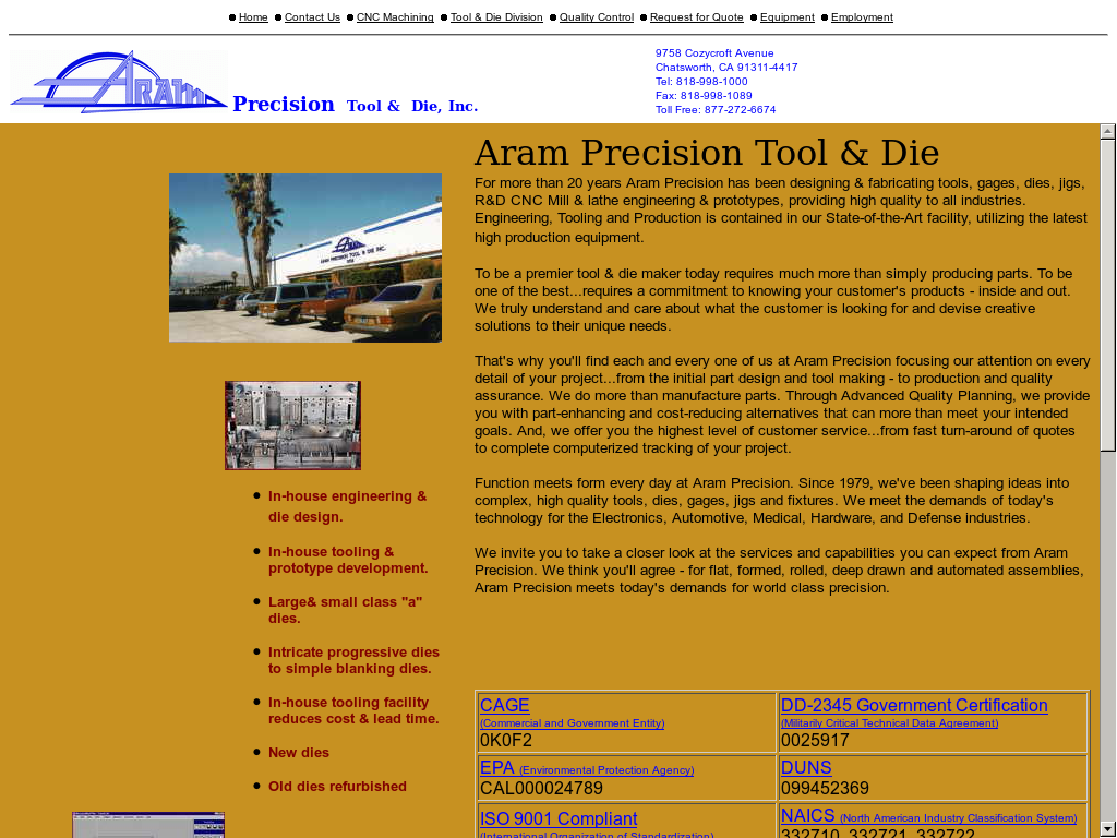 Aram Precision Competitors Revenue And Employees Owler Company