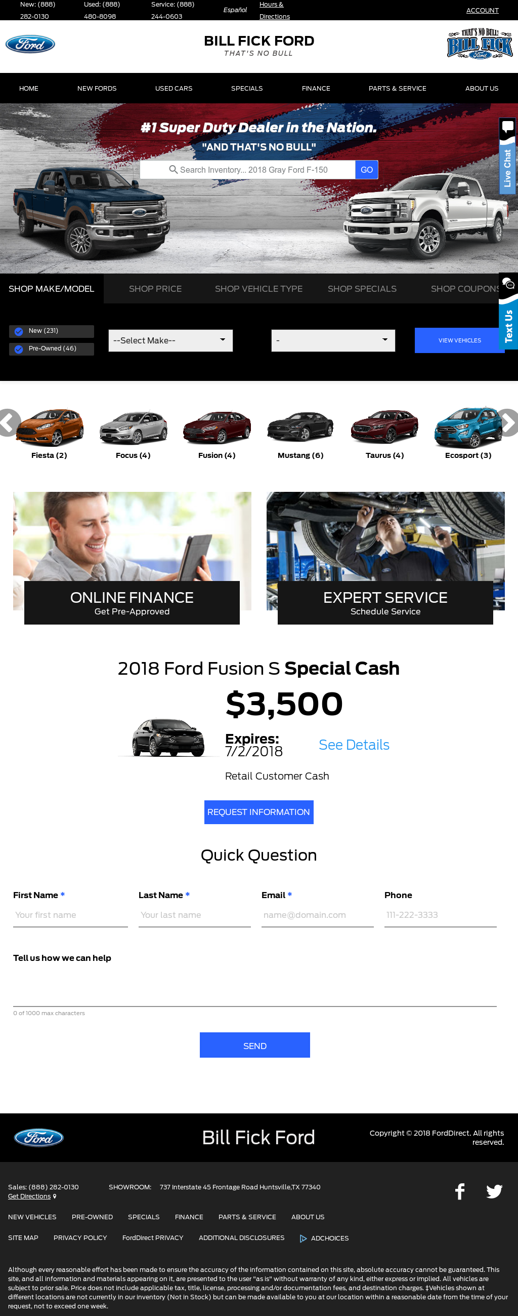 Bill Fick Ford Competitors Revenue And Employees Owler Company