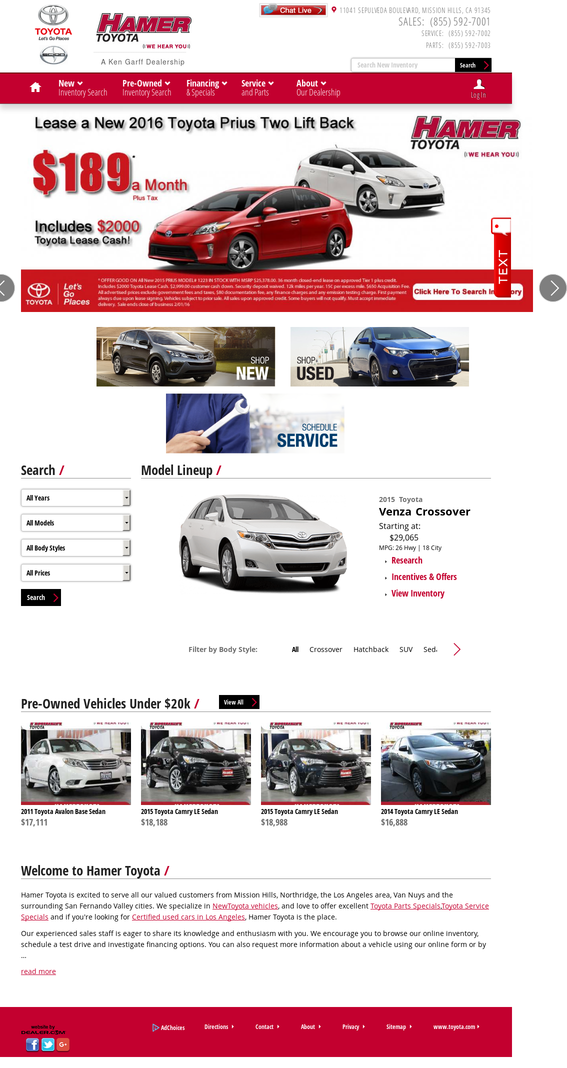 Hamer Toyota petitors Revenue and Employees Owler pany Profile