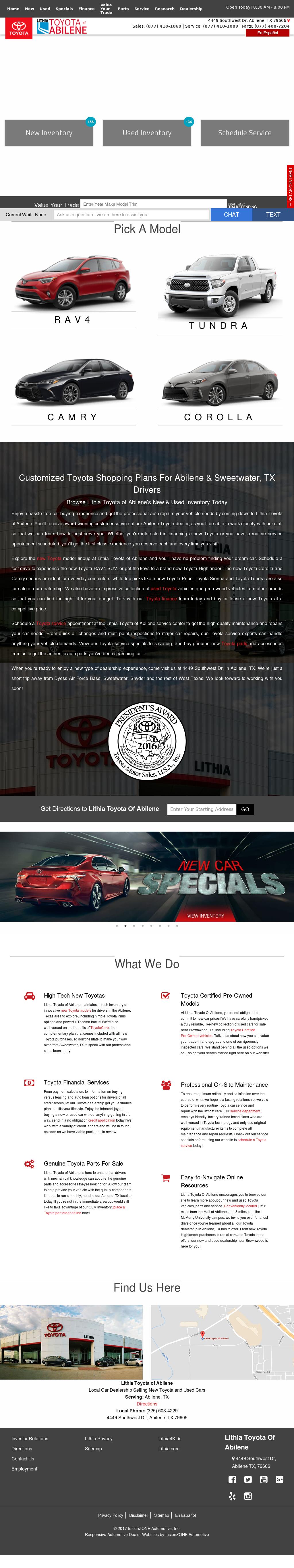 Lithia Toyota Of Abilene Website History