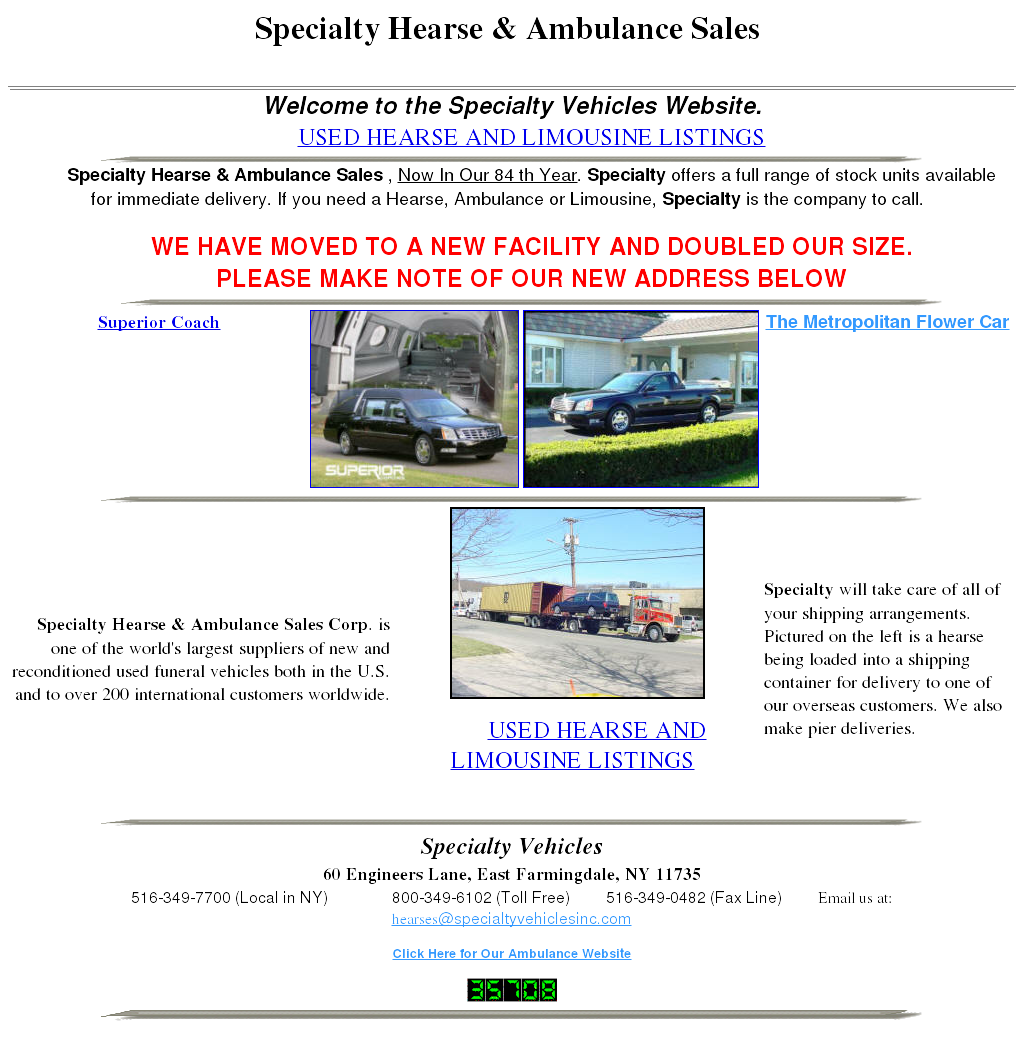 Specialty Hearse & Ambulance Sales Competitors, Revenue and