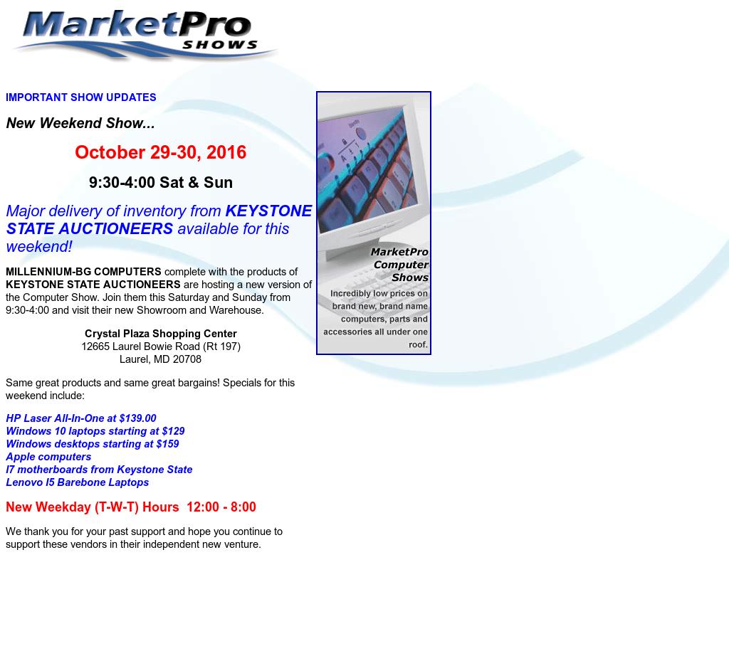 Marketpro computer show