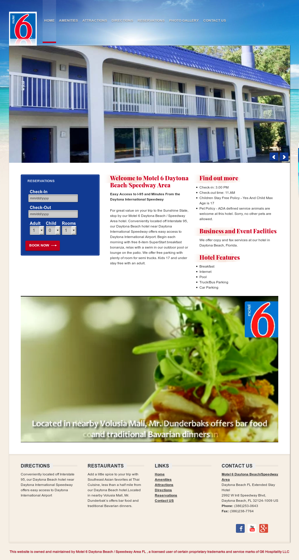 Motel 6 Daytona Beach / Speedway Area Hotel Competitors, Revenue and ...