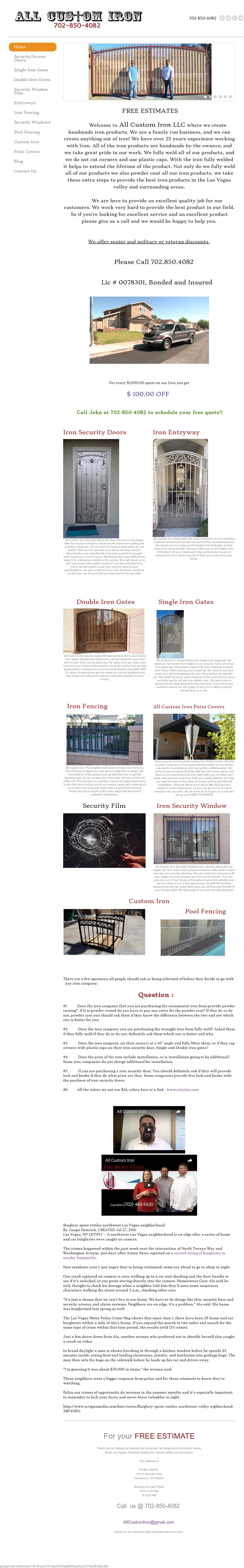 Owler Reports - All Custom Iron Lic#0078301 Blog Prime Box!!!