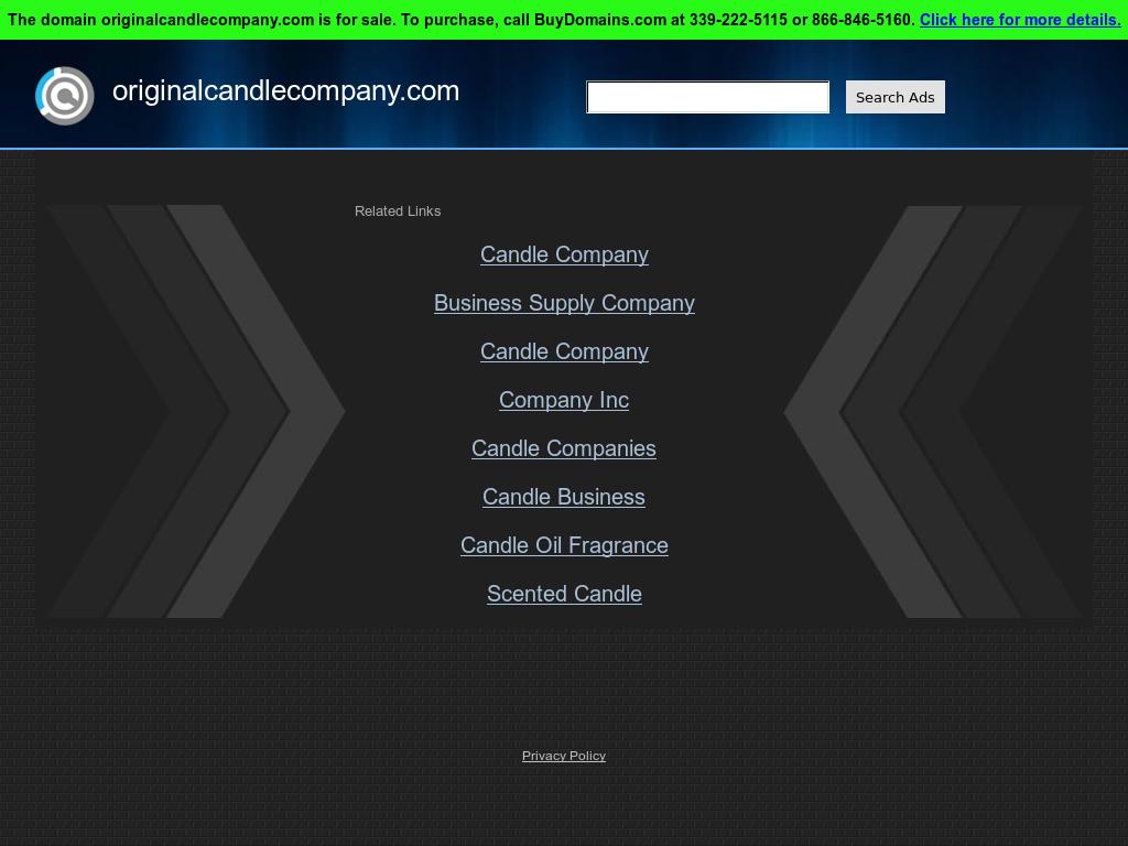 Original Candle Company  Marketing Competitors, Revenue and
