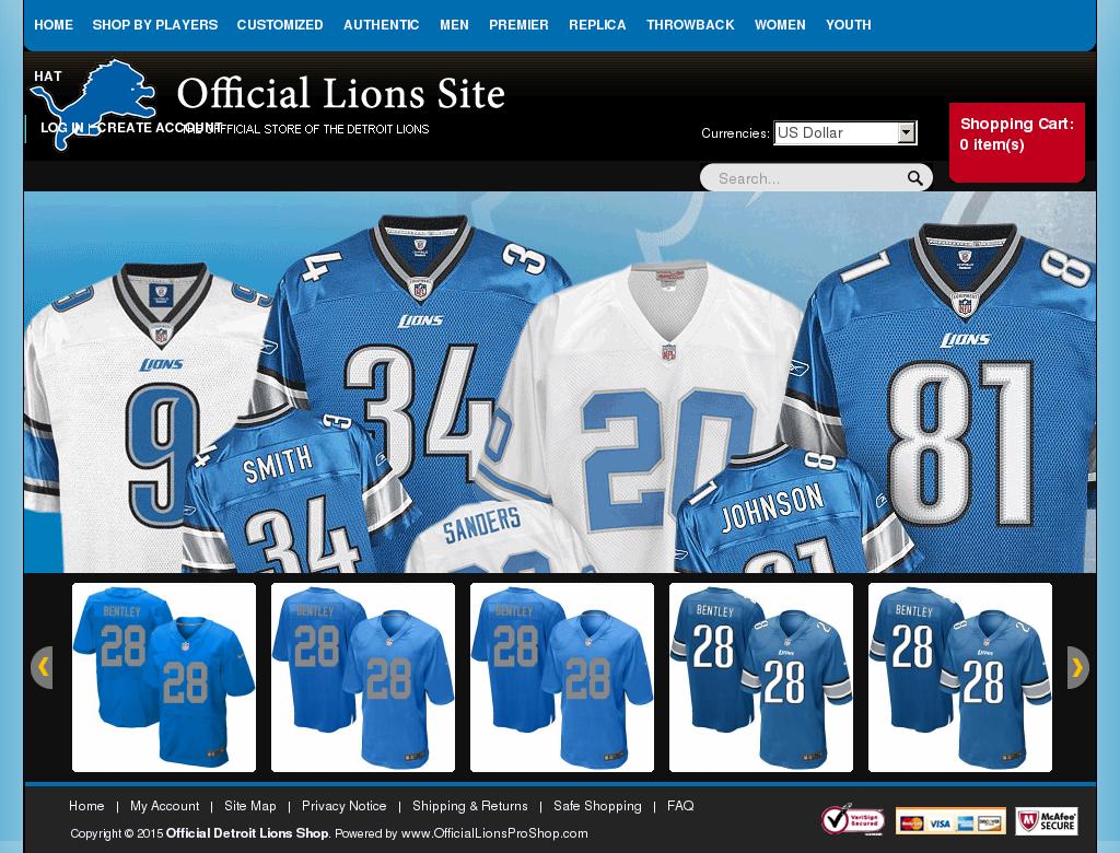 Nice Official Detroit Lions Shop Competitors, Revenue and Employees