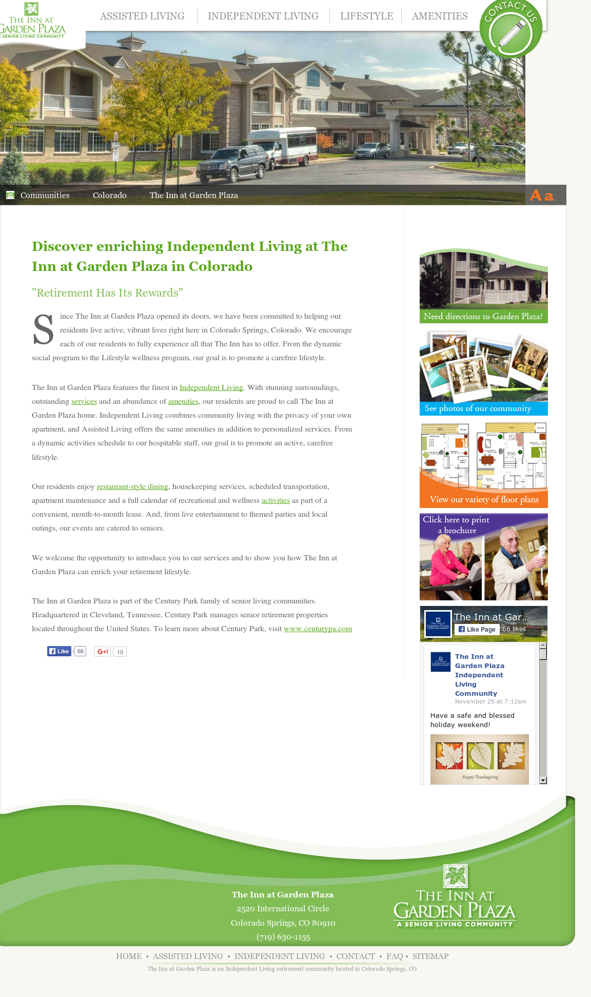 Exceptional The Inn At Garden Plaza Independent Living Community Website History