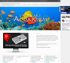 Living Art Aquarium Website History