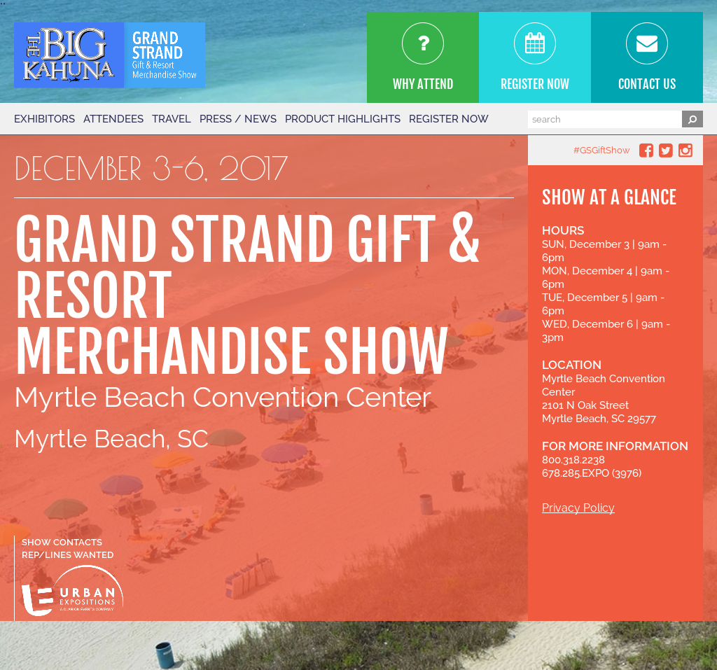 The Grand Strand Gift & Resort Merchandise Show Competitors, Revenue and Employees - Owler Company Profile