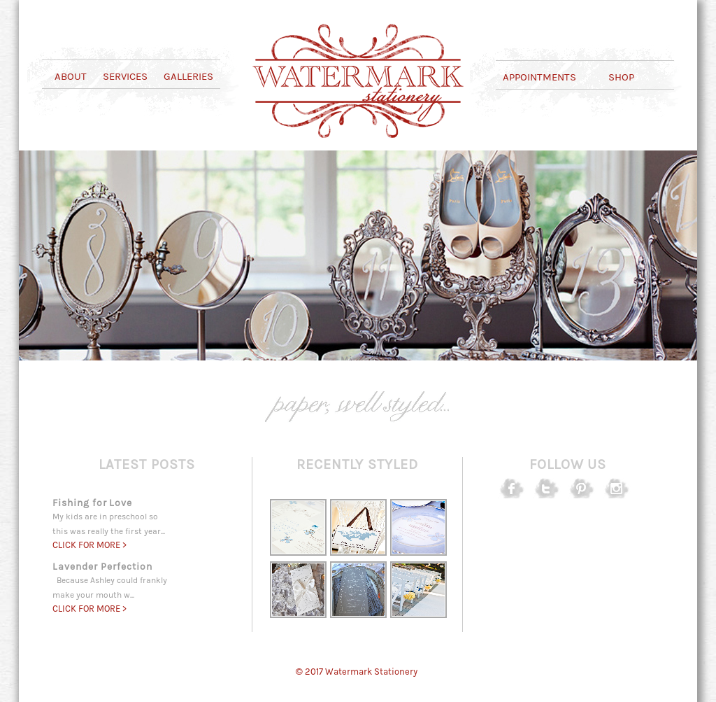 watermark stationery website history