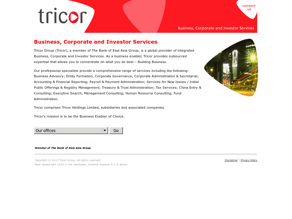 Tricor Website