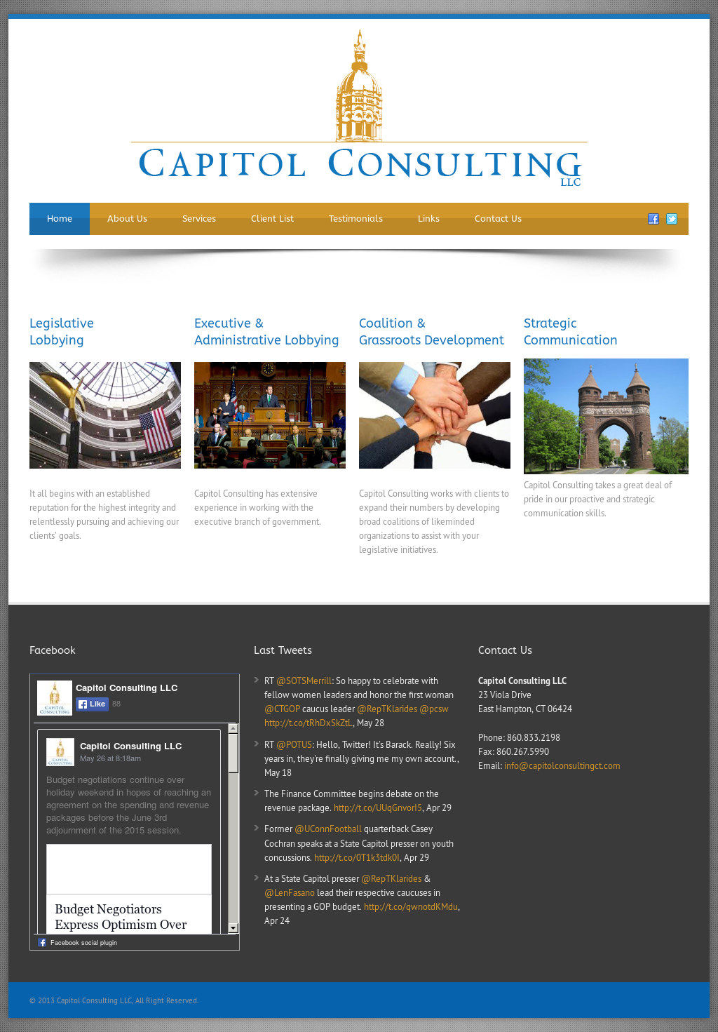 Capitol consulting competitors revenue and employees for Consulting website