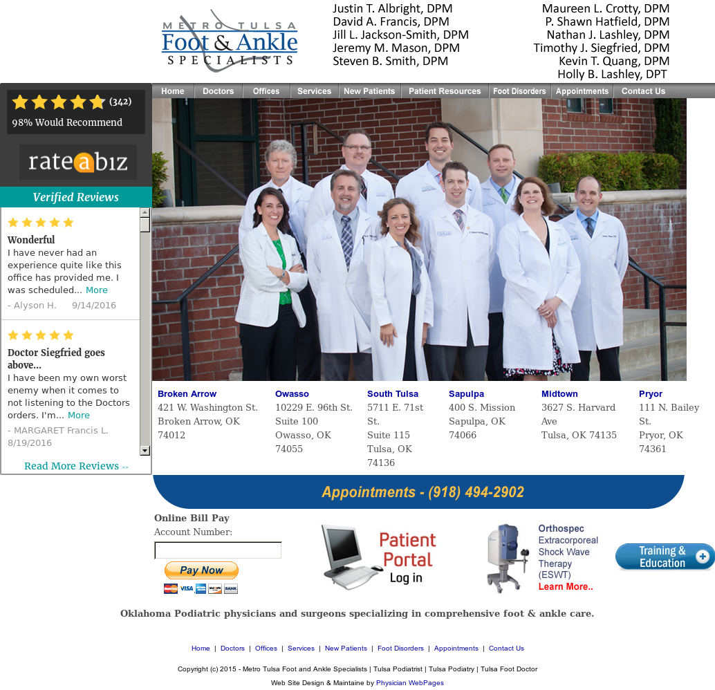 Metro Tulsa Foot And Ankle Specialists Competitors, Revenue