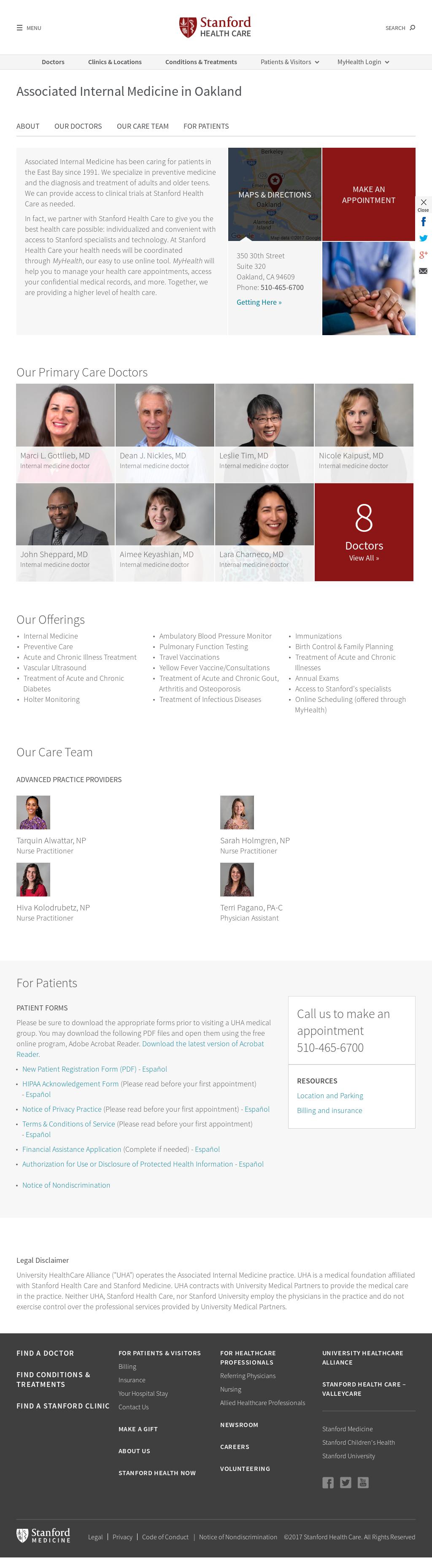 Associated Internal Medicine Competitors, Revenue and