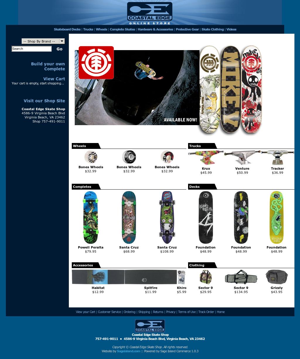 Coastal Edge Skate Shop Competitors, Revenue and Employees