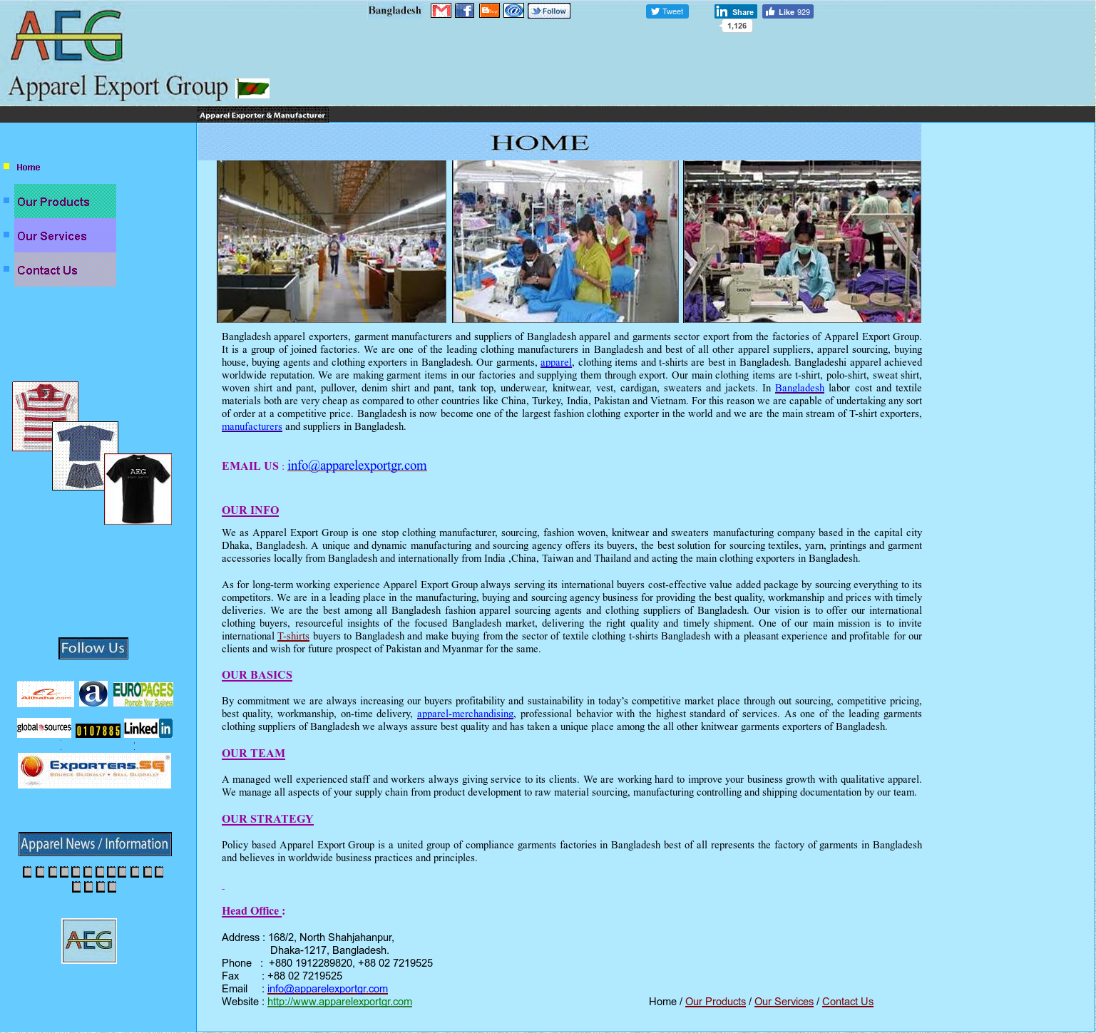 Bangladesh Apparel And Garments Manufacturers Competitors