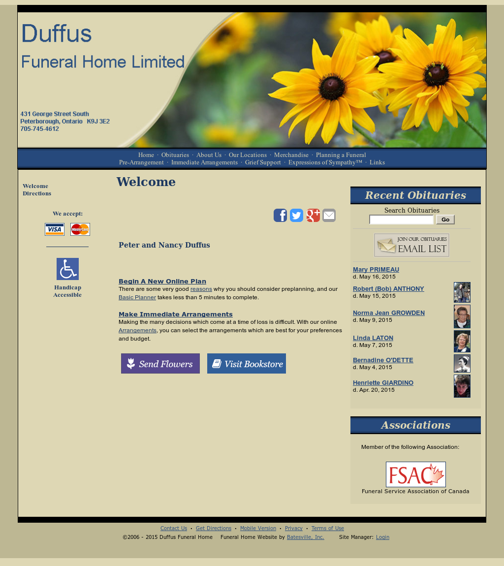 Duffus Funeral Home Funeral Home Competitors, Revenue and