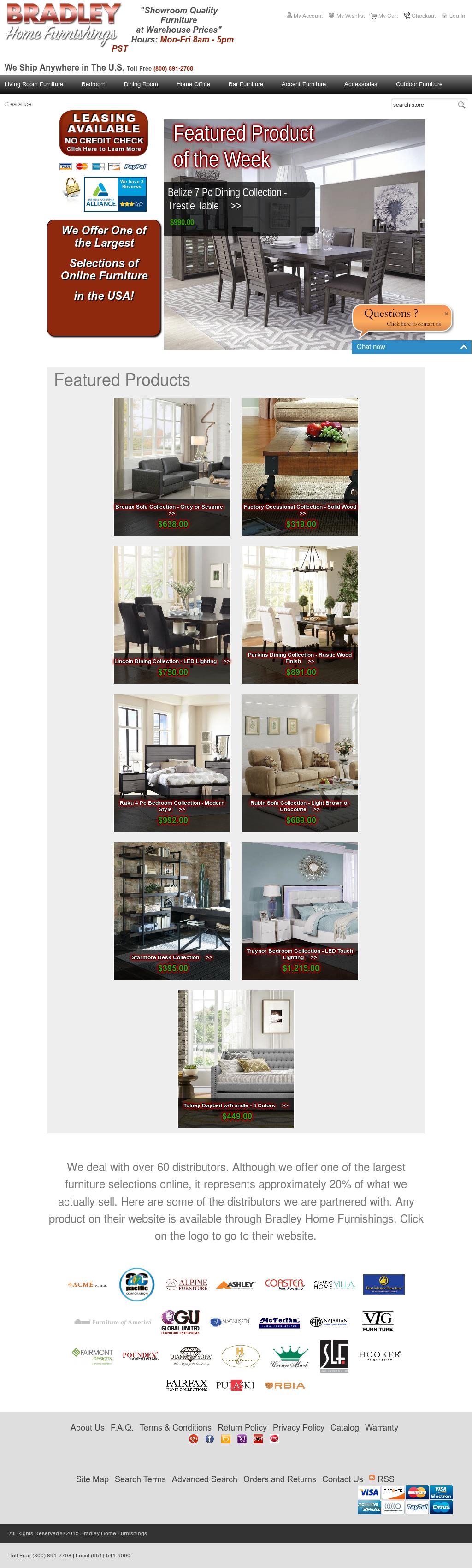 Bradley Home Furniture Website History