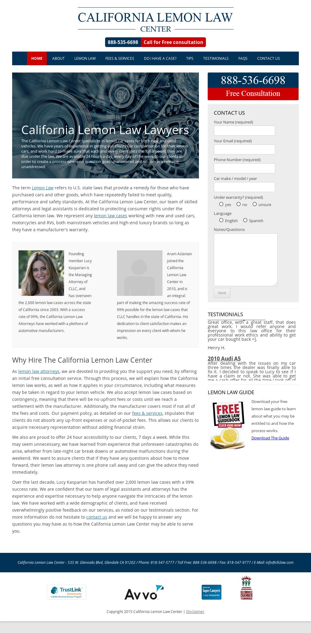 Lemon Law California >> California Lemon Law Center Competitors Revenue And