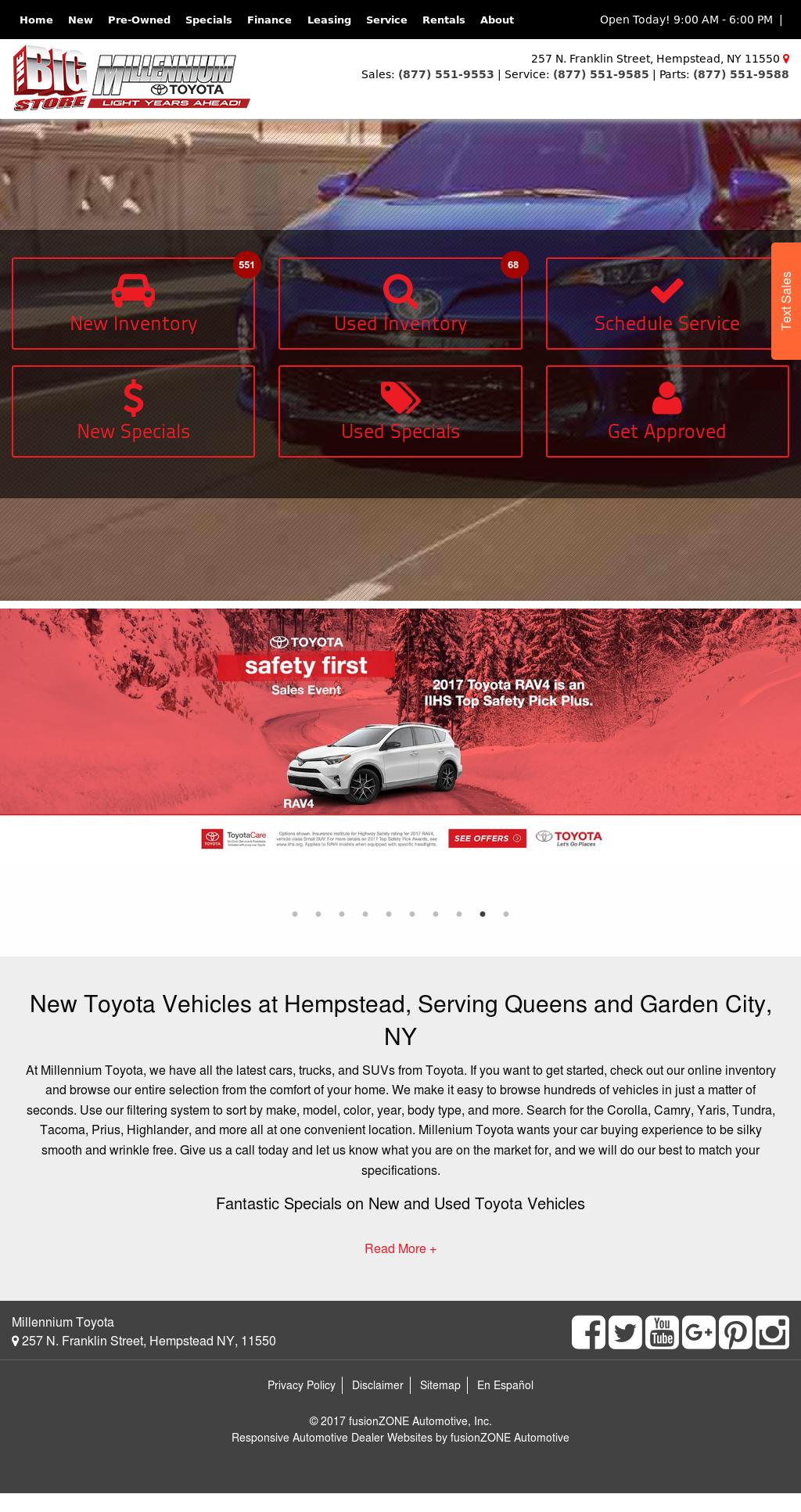 Millennium Toyota Website History