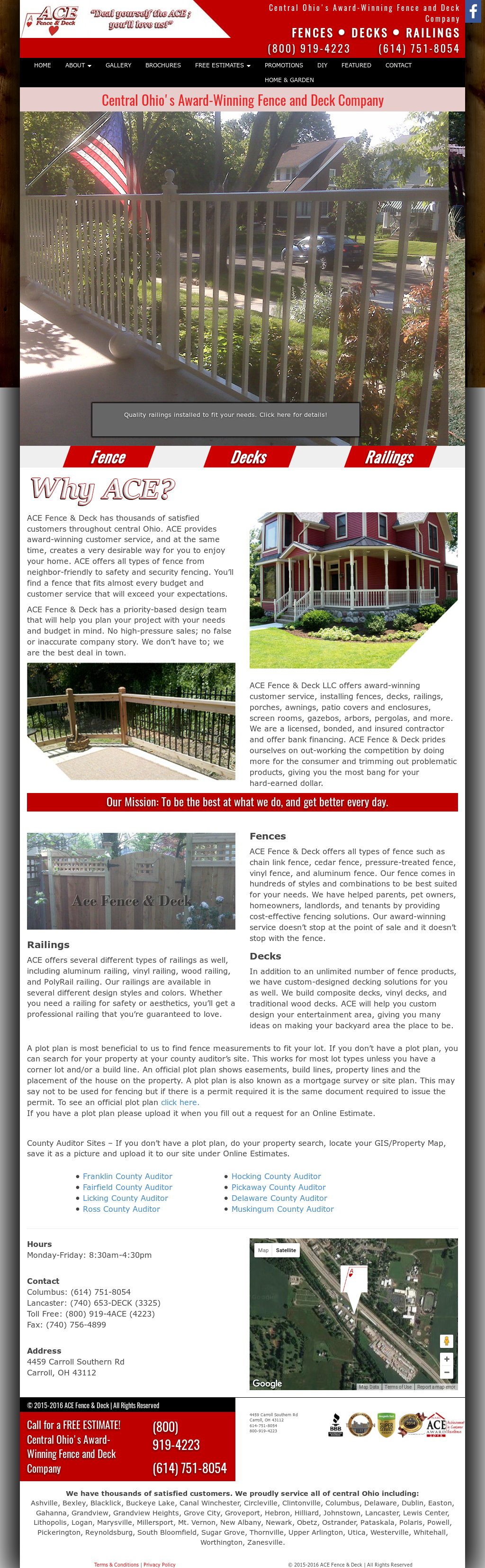 Ace Fence Deck Compeors Revenue And Employees Owler Company Profile